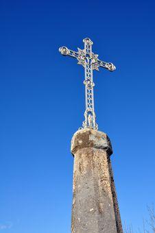 Free Cross In A Blue Sky Stock Photos - 13667543