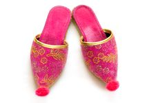 Free Colorful Turkish Slippers Royalty Free Stock Images - 13667699