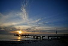 Free Sunset Over The Pier Stock Image - 13667941