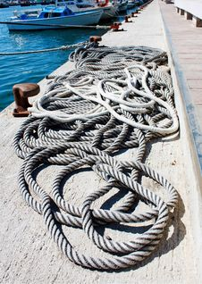 Fishing Cordage Stock Image