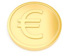 Free Gold Coin With Euro Sign Stock Photography - 13668452