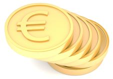Free Gold Coins With Euro Sign Royalty Free Stock Photography - 13668467