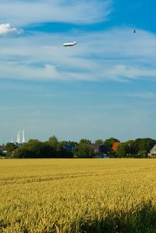 Free Flight Over A Wheaten Field. Stock Photography - 13668502