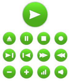 Free Vector Audio Buttons Stock Photos - 13668853
