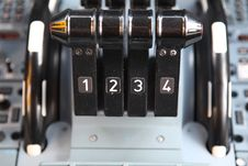 Free Four Thrust Levers Stock Photography - 13669712