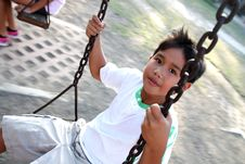Free Boy On A Swing Stock Images - 13669804
