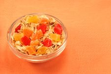 Free Oatmeal And Dried Exotic Fruits Stock Photo - 13669830