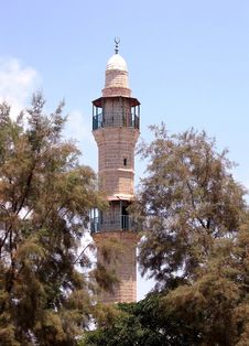 Free Jaffa Minaret Of Mahmoudiya Mosque 2007 Stock Photo - 13669940