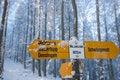 Free Swiss Hiking Signpost Stock Photography - 13673302