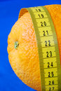 Free An Orange And A Measuring Tape Stock Photo - 13679680