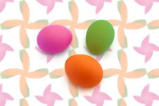 Free Three Painted Eggs Stock Photos - 13670553