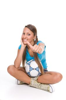 Free Football Girl Royalty Free Stock Image - 13671586