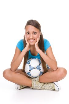 Free Football Girl Stock Image - 13671611