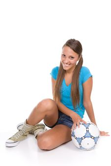 Free Football Girl Stock Images - 13671614