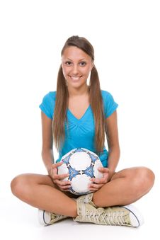 Free Football Girl Royalty Free Stock Images - 13671619