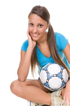 Free Football Girl Stock Photos - 13671623