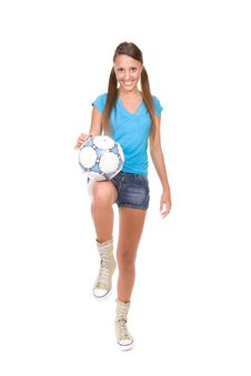 Free Football Girl Stock Photography - 13671632