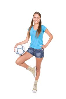 Free Football Girl Stock Photos - 13671633
