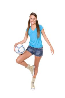 Free Football Girl Stock Images - 13671634