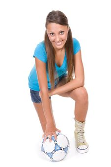 Free Football Girl Stock Photos - 13671643