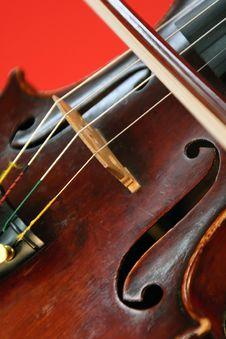 Free Violin Detail Royalty Free Stock Photo - 13671645