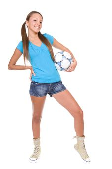 Free Football Girl Royalty Free Stock Photography - 13671647