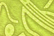 Patterned Green Leather Royalty Free Stock Image