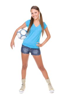 Free Football Girl Stock Photos - 13671673