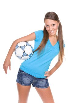 Free Football Girl Royalty Free Stock Photos - 13671678