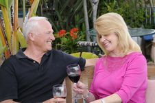 Couple Enjoying Wine Royalty Free Stock Photo