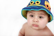 Free Baby In A Hat Stock Image - 13671991