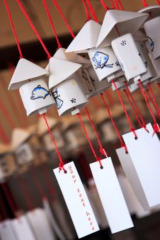 Free Decorative Japanese Bell Or Furin Stock Image - 13672001