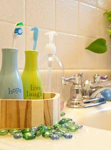 Decorative Bathroom Sink Stock Photo