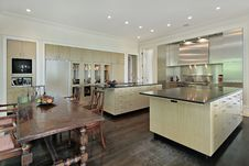 Free Kitchen With Eating Area Stock Photography - 13672532