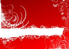 Free Red Floral Scroll Royalty Free Stock Photos - 13672558