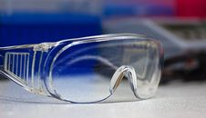 Plastic Protective Glasses Royalty Free Stock Photo
