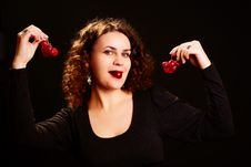 Free Woman With Grapes. Royalty Free Stock Image - 13672926
