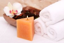 Free Spa Candle Stock Image - 13673311