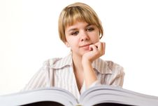 Free Beautiful Young Girl With A Book Stock Photos - 13673793