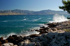 Postira On Island Of Brac, Croatia Stock Photo