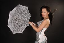 Free Girl With Umbrella In Wind Stock Photo - 13675010