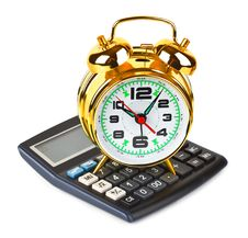 Free Calculator And Clock Royalty Free Stock Photography - 13675237
