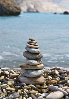 Free Pyramid Of Pebbles Stock Photo - 13675360