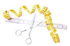 Free Centimetre And Scissors Stock Photo - 13675370