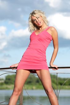 Free The Young Woman In Pink Clothes. Royalty Free Stock Photography - 13675397