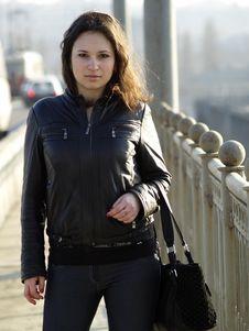 Free Girl On Bridge Stock Images - 13675404