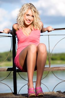 Free The Young Woman In Pink Clothes. Royalty Free Stock Image - 13675976