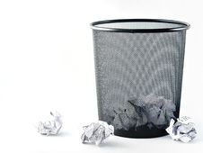 Free Office Paper Bin Royalty Free Stock Photo - 13676065