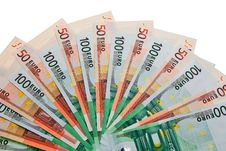 Free 100 And 50 Euro Banknotes. Stock Photos - 13676273