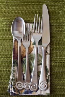 Free Silverware Setting Royalty Free Stock Image - 13676626